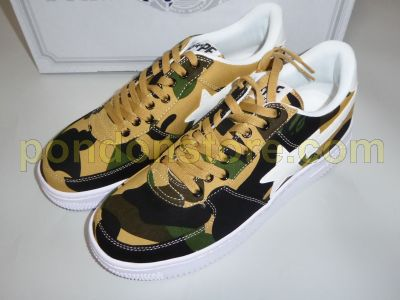 112a1982a3cd ... green A BATHING APE bape bapesta full 1st camo canvas yellow ...