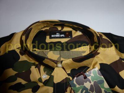 b3264cea A BATHING APE : bape 1st camo bd shirt yellow [Pondon Store]