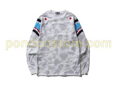 f25b6b7f A BATHING APE : bape city camo shark long sleeve white tee [Pondon ...