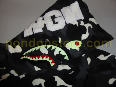 713aff693bc0 A BATHING APE   bape full city camo shark hoody black  Pondon Store