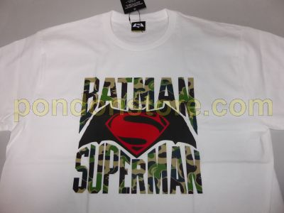 189ca4b2c16f A BATHING APE   BAPE x Batman vs Superman white green camo tee ...