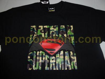 4dc7e3e6 A BATHING APE : BAPE x Batman vs Superman black/green camo tee ...