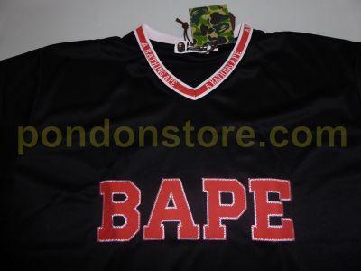 Bape V Neck Football Black Tee