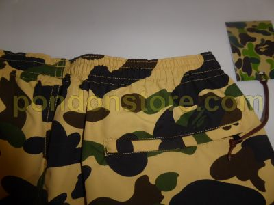 8796853296 A BATHING APE : bape 1st camo beach pants yellow [Pondon Store]