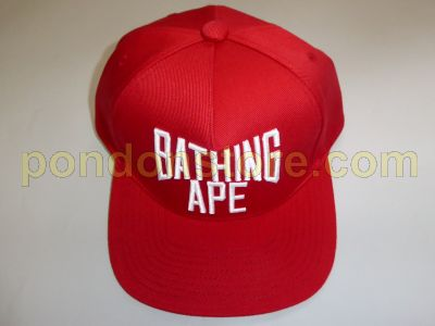 A BATHING APE   NYC logo snapbac cap red  Pondon Store  91d2cbf6c16