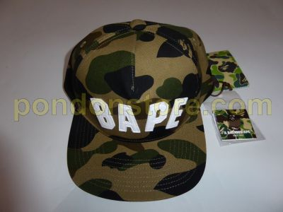 2d30662c3e1 A BATHING APE   bape arch 1st camo snapback cap green  Pondon Store