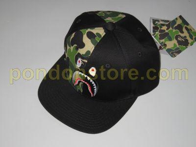 59d4eb501bcf A BATHING APE   16 a w abc shark snapback cap black  Pondon Store