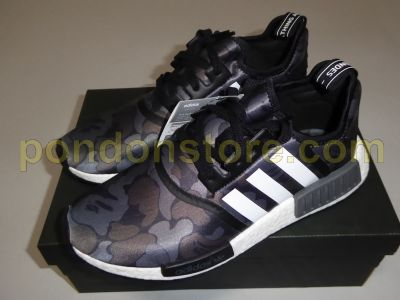 hot sales 965a3 3c71e A BATHING APE   adidas NMD R1 bape black camo