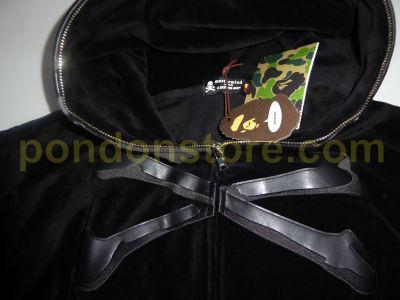 ad4a0a8f0312 A BATHING APE   mastermind Japan x bape velvet hoody black  Pondon ...