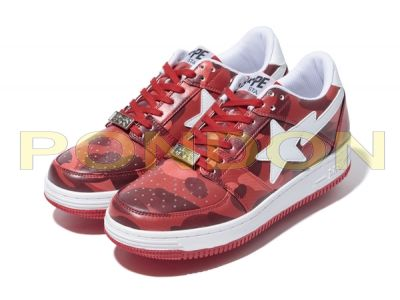 A BATHING APE   color camo bapesta red  Pondon Store  edecfee76