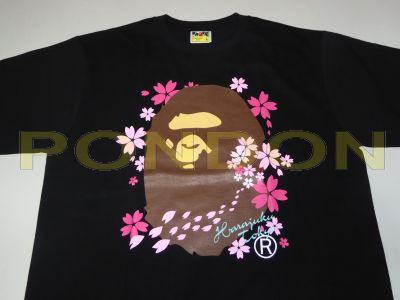 307f4db79 A BATHING APE : sakura head black tee [Pondon Store]