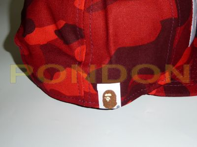 A BATHING APE   color camo new era snapback cap red  Pondon Store  ea065c2cd490