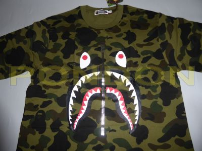 e5622ecd A BATHING APE : full 1st camo shark green tee [Pondon Store]