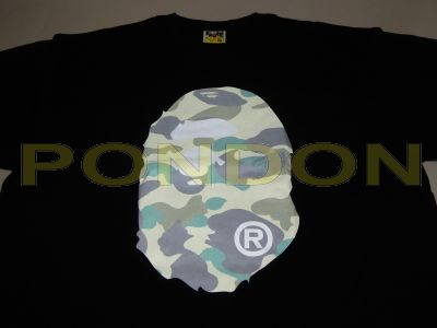 e826d27e A BATHING APE : reflector 1st camo head black/yellow tee [Pondon Store]