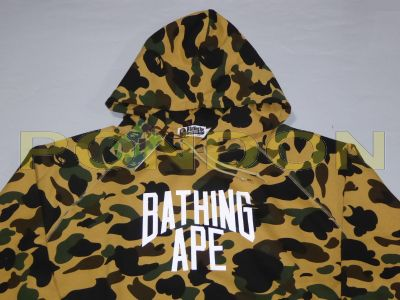 042e47193308 A BATHING APE   1st camo nyc logo pullover hoody yellow  Pondon Store