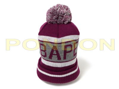 A BATHING APE   bape knit cap purple  Pondon Store  32225a788ad