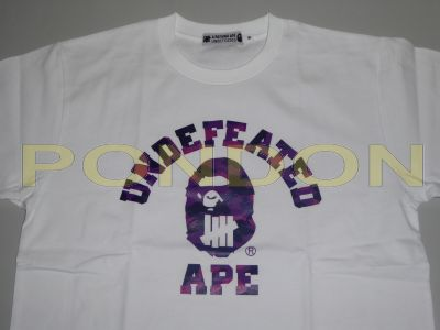 b432dc48 A BATHING APE : bape x undefeated color camo college white purple tee