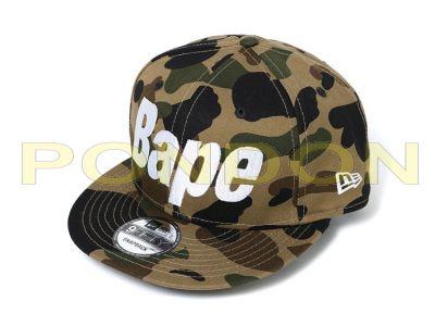 c69ef6a8936 A BATHING APE   1st camo bape new era snap back cap green  Pondon Store