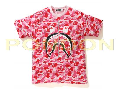 40e834ddf641 A BATHING APE   full abc camo shark pink tee  Pondon Store