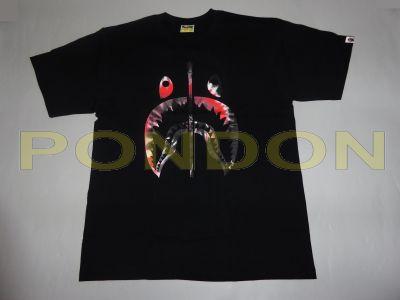 f1616063ddb8 A BATHING APE   tie dye shark black red tee  Pondon Store