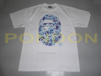 f66770f17336 A BATHING APE   bape xxv cities camo ape head white blue tee  Pondon ...
