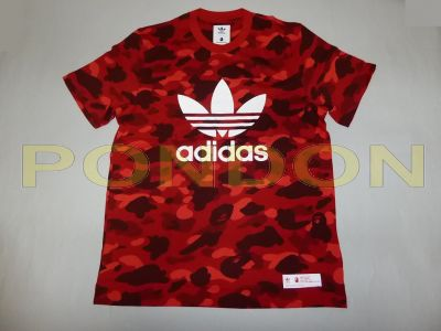 new styles 57e09 1b36e A BATHING APE  bape x adidas camo red tee
