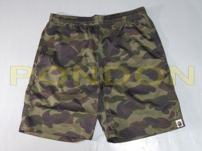 be4e1262a5 A BATHING APE : bape 1st camo green beach pants [Pondon Store]