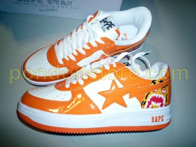 buy popular 9fcee 959f2 A BATHING APE   APE BAPESTA tiger orange HARAJUKU limited