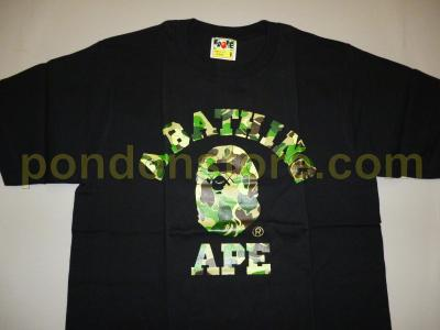 9a16b03b A BATHING APE : bape x OriginalFake KAWS black/green camo college tee