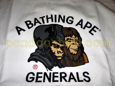 A BATHING APE   used APE tee eye diamond stone generals white brown ... 0d76e5a395a0