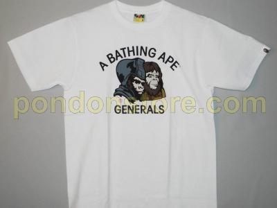 A BATHING APE   bape generals white tee  Pondon Store  8e275815bbf4