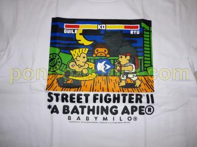 8e2b70edd A BATHING APE : bape x street fighter 2 Guile vs Ryu tee 12sold ...