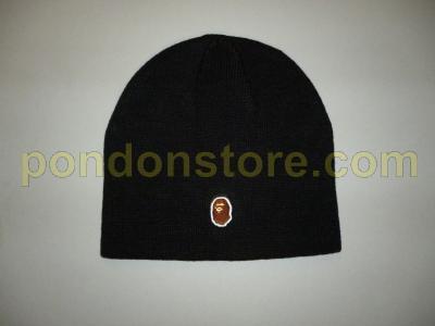 cad170ff6ade4 A BATHING APE   bape one point black beanie sale!!  Pondon Store