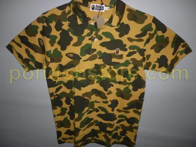 7e6434b5f1aa A BATHING APE   bape 1st camo yellow polo shirt  Pondon Store