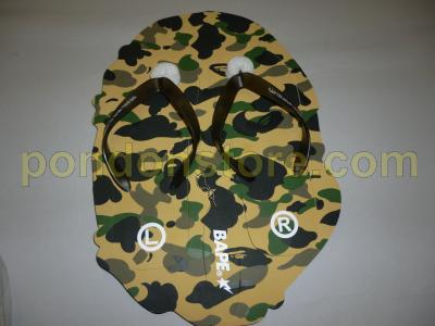 203cc79b9e A BATHING APE : bape 1st camo yellow beach Sandals [Pondon Store]