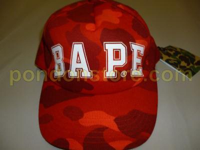 A BATHING APE   bape logo color camo red baseball cap  Pondon Store  4ddc254efed