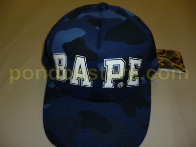 A BATHING APE   bape logo color camo navy baseball cap  Pondon Store  48f678f5dcc