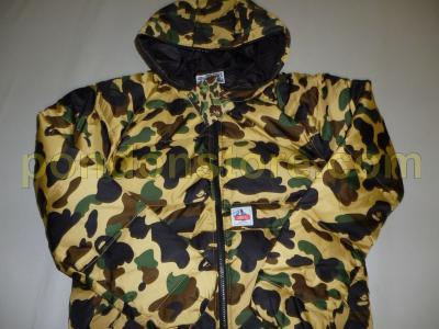 682c5bef A BATHING APE : bape 1st camo yellow full zip down jacket sale ...