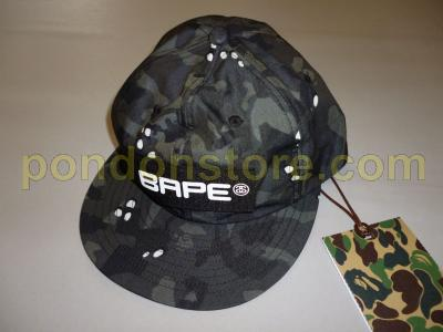 001923c0520 A BATHING APE   stussy x bape desert camo baseball cap black  Pondon ...