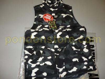 d6502a0fa9d8 A BATHING APE   bape city camo black down vest  Pondon Store