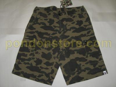 A Bathing Ape Bape St Camo  Pocket Shorts Pants Green