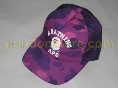A BATHING APE   bape color camo purple college cap truckerhat ... 09a6d79435ae