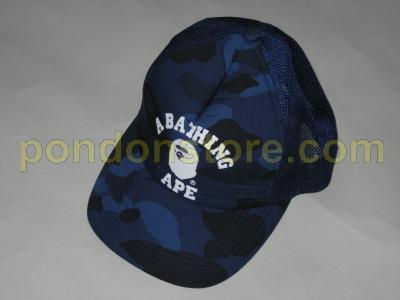A BATHING APE   bape color camo navy college cap truckerhat  Pondon ... d8a1656a77b3