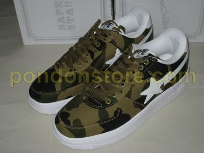 d165088c7eb5 ... A BATHING APE bape 1st camo green canvas bapesta ...