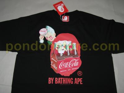 28cac76d2 A BATHING APE : bape x Coca Cola by bathing black tee [Pondon Store]