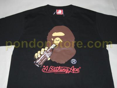 570d94fe5 A BATHING APE : bape x Coca Cola ape head black tee [Pondon Store]
