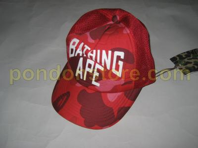 A BATHING APE   bape NY color camo red cap truckerhat  Pondon Store  642606ce6cf