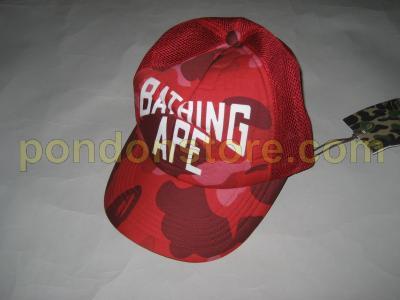A BATHING APE   bape NY color camo red cap truckerhat  Pondon Store  3dac2600414f