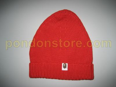 cf22e68957a A BATHING APE   bape beanie red sale  Pondon Store