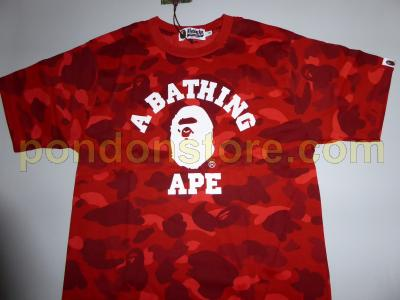 8bbd52b69 A BATHING APE : bape color camo college red tee [Pondon Store]